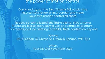 RED - SISU CINEMA ROBOTICS AT RED LONDON - FREE DEMO -TUESDAY 2 NOVEMBER