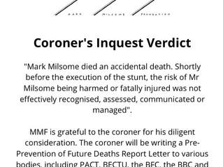 MARK MILSOME - INQUEST VERDICT