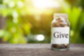 concept saving money Give money to chari