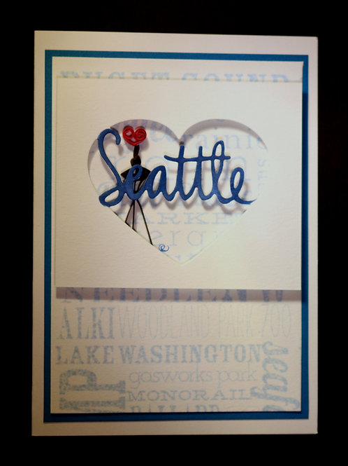 Heart Seattle Greeting Card