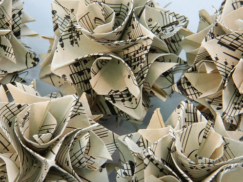 Vintage Music Origami Ornaments Large size