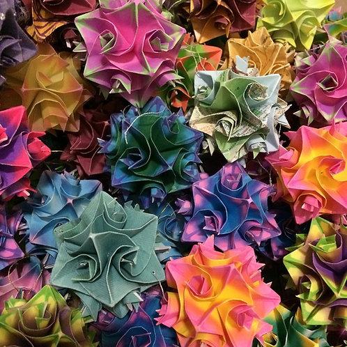 Random Colors Origami Ornaments Small Size