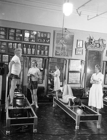 Joseph Pilates reformer class