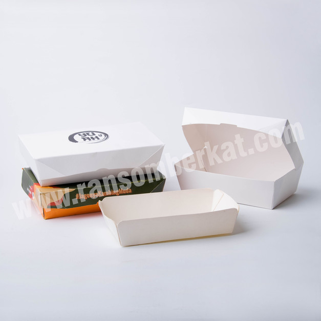 Kotak Makan Kertas Paper Lunch Box Food Pail