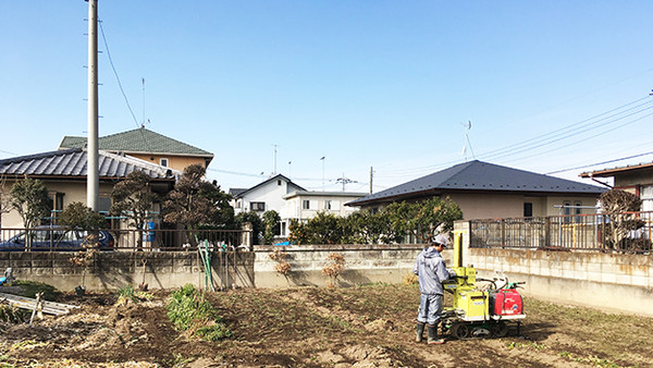 地盤調査@群馬県館林市の住宅