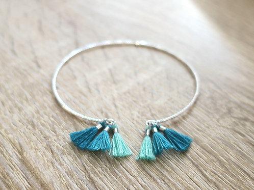 """Bracelet """"Alexa"""" - Argenté / Vert"""