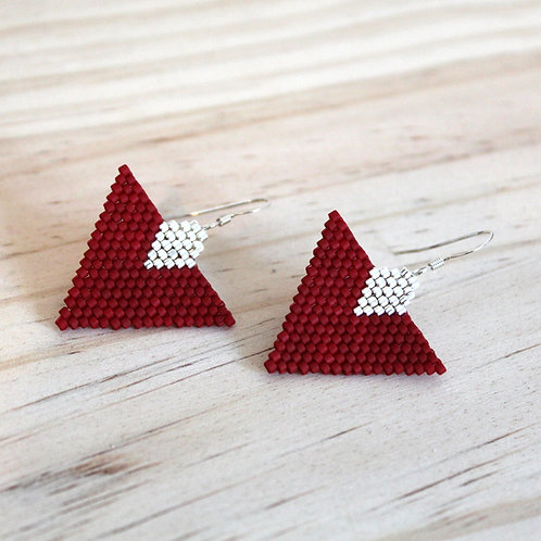 Boucles Lina - Rouge