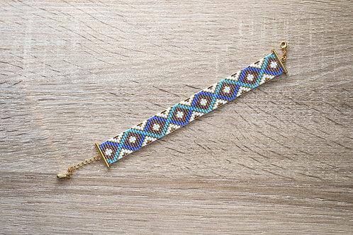 """Bracelet """"Nine"""" - Bleu / Violet / Doré"""