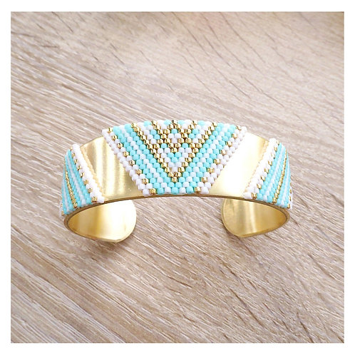 Bracelet Layana - Vert turquoise