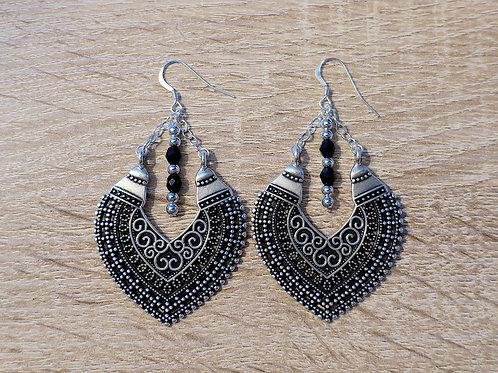 Boucles d'oreilles - Héma - Noir