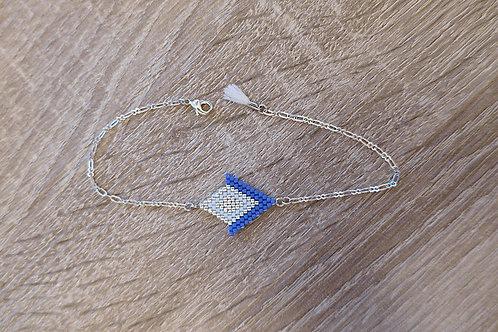 "Bracelet ""Angelina"" - Violet / Argenté"