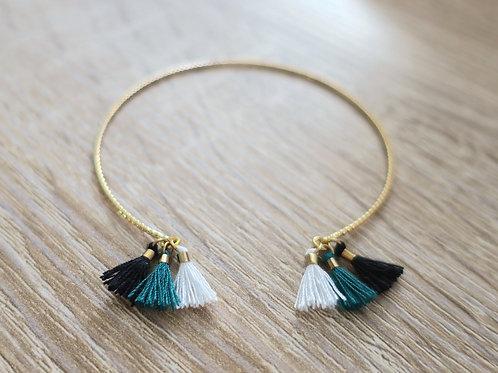 """Bracelet """"Alexa"""" - Doré / Blanc / Vert / Noir"""
