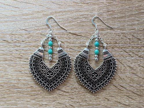 Boucles d'oreilles - Héma - Turquoise