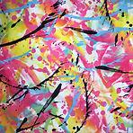 Paint splatter paint party swimwear bikini scrunchie fabric