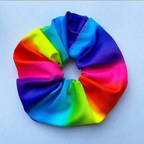 'Rainblur' rainbow scrunchie