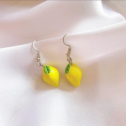 Mini lemon earrings