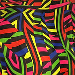 Rainbow colourful multicoloured zebra swimwear bikini scrunchie fabric