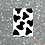 Thumbnail: A4 black cow print wall print