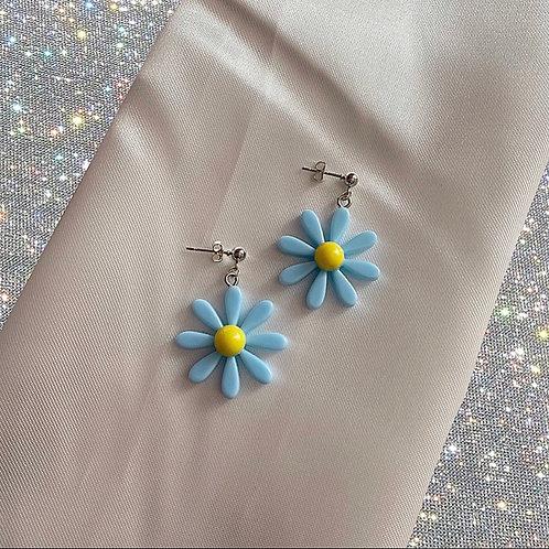 Pastel daisy earrings