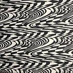 Monochrome black and white glitch swimwear bikini scrnchie material
