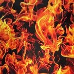 Fireball flame blaze swimwear bikini scrunchie fabric
