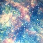 Pastel cosmic galaxy swimwear bikini scrnchie material
