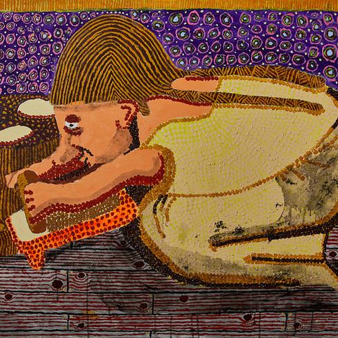 Village Woman Kneading Dough