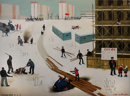 016 1991 in Ukraine, 2015, oil on linen,