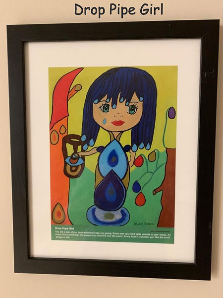 Drop Pipe Girl Painting