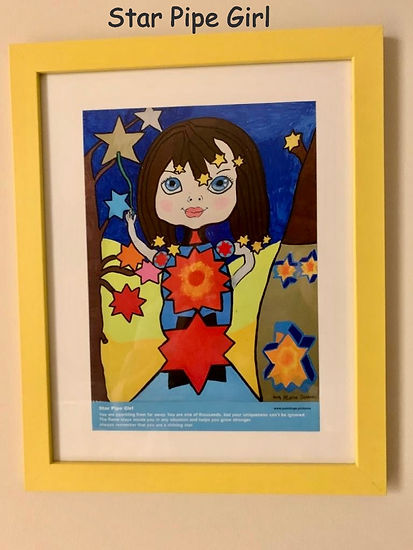 Star Pipe Girl Painting