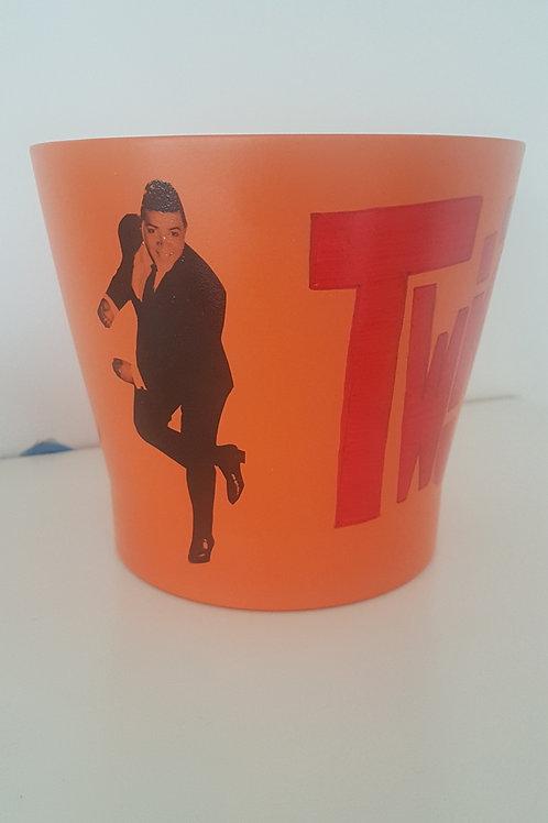 'The Twist' medium ceramic vase