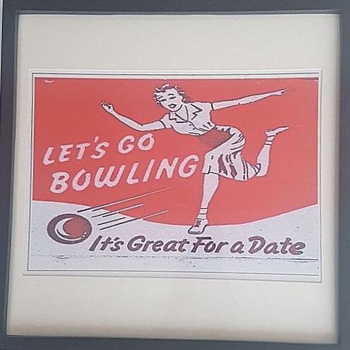 Bowling framed print