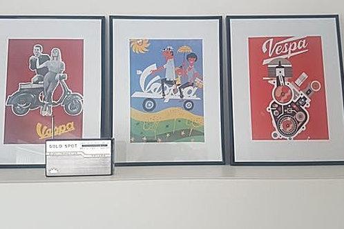 Vespa Prints Set of 3