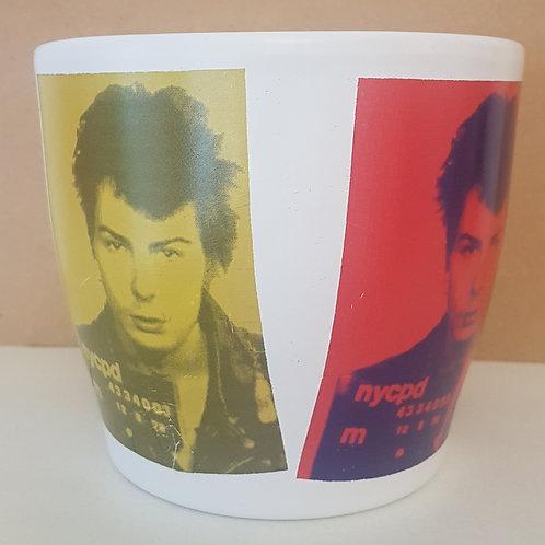 Sid Vicious Sex Pistols medium ceramic vase