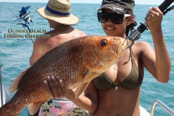 Great fun Darwin fishing charter girls