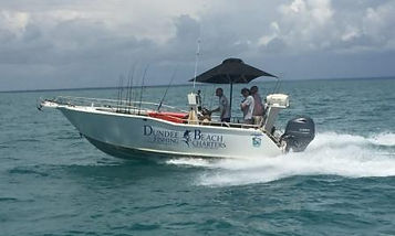 Fast Darwin fishing charter boat