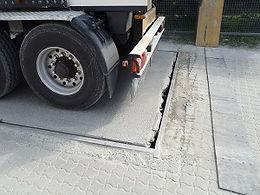 Ausgebrochene Brückenwaage repariert