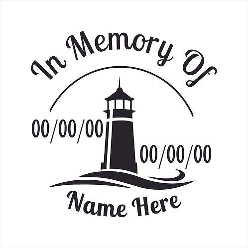 Memorial Decals Lighthouse Memorial Decal Window Sticker