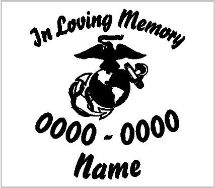 Memorial Decal Marine Corps USMC Memorial Decal Window Sticker