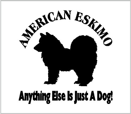 American Eskimo Dog Vinyl Decal Window Sticker