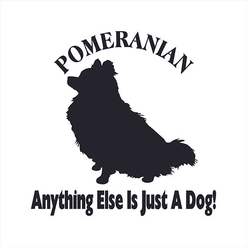 Pomeranian Dog Vinyl Decal Window Sticker