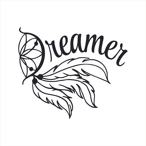 Feathers Dream Dreamer Sun Catcher Vinyl Decal Window Sticker