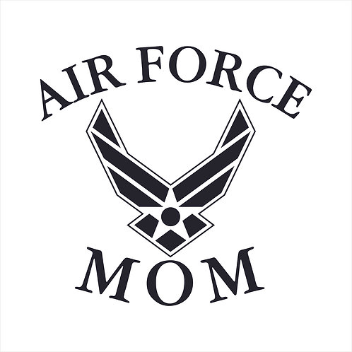 Air Force Mom US Air Force Mom Vinyl Decal Window Sticker