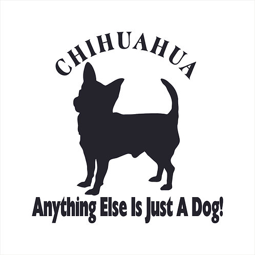 Chihuahua Dog Vinyl Decal Window Sticker