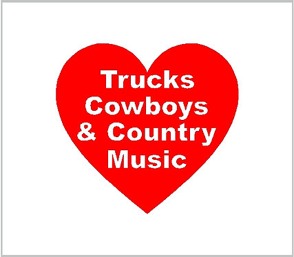 Country Cowboys Cowgirls Music Decal Country Western Decal Window Sticker