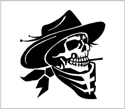 Cowboy Skull Western Country Cowgirl Decal Window Sticker