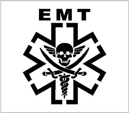 EMT Star of Life Skull Paramedic Vinyl Decal