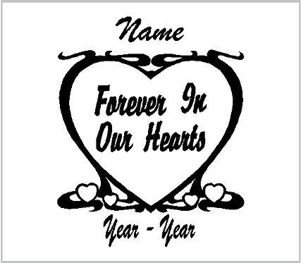 Memorial Decals Hearts Heart Memorial Decal Window Sticker