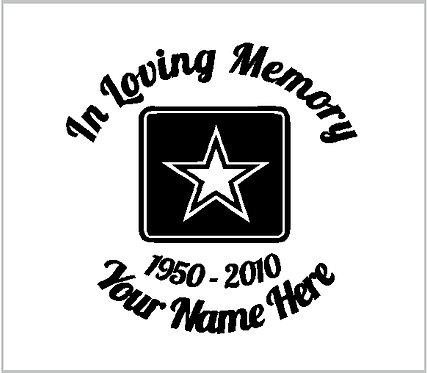 Memorial Army US Army USA Star Memorial Decal Window Sticker