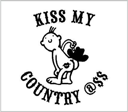 Kiss My Country A$$ Decal Vinyl Sticker Decal Window Sticker